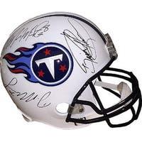 Tennessee Titans signed Riddell Full Size Replica Helmet 3 sig MariotaMurrayHenry Holograms