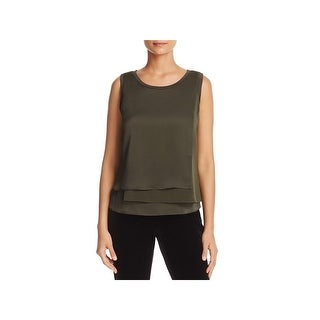 Kenneth Cole Womens Shell Layered Sleeveless
