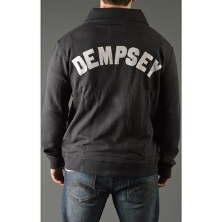 Roots of Fight Jack Dempsey Throwback Button-Front Cardigan Jacket - Black