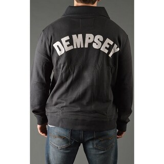 Roots of Fight Jack Dempsey Throwback Button-Front Cardigan Jacket - Black (2 options available)
