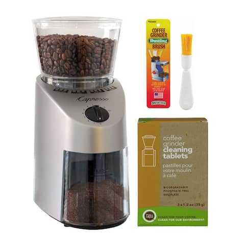 Capresso 560.04 Infinity Conical Burr Grinder with Cleaner and Brush