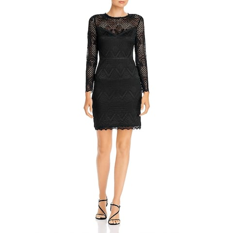 Aqua Womens Bodycon Dress Lace Mini