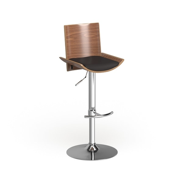 Carson Carrington Ljungby Adjustable Wood and Faux Leather Bar Stool. Opens flyout.