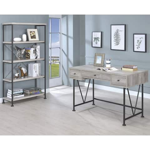 Mid Century Industrial Driftwood Design Home Office Collection