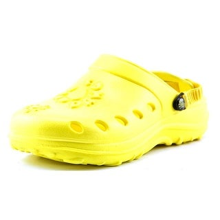 Dawgs Kids Dawgs Youth Round Toe Synthetic Yellow Clogs