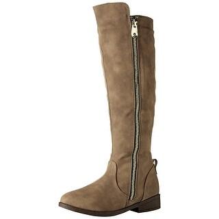 Qupid Womens Pleteau 1848 x Closed Toe Knee High Fashion Boots