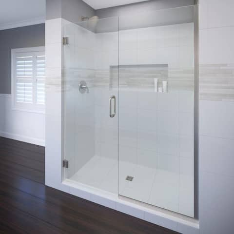 "Basco CELA-935-46-76CL Celesta 76"" High x 46"" Wide Pivot Frameless Shower Door with Clear Glass"