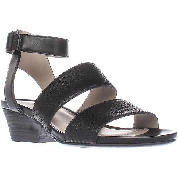 naturalizer Gracelyn Comfrot Heel Sandals, Black Leather