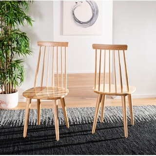 """Link to Safavieh Country Classic Dining Burris Natural Dining Chairs (Set of 2) - 17.3"""" x 20.7"""" x 36"""" Similar Items in Dining Room & Bar Furniture"""