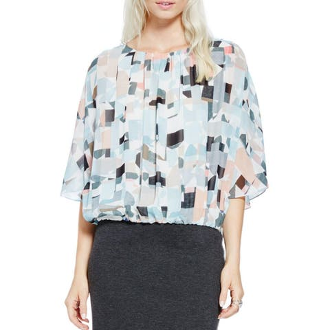 Vince Camuto Womens Casual Top Lined Gathered