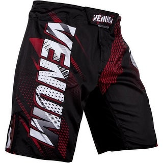 Venum Rapid Speed Grip Closure MMA Fight Shorts - Black/Red