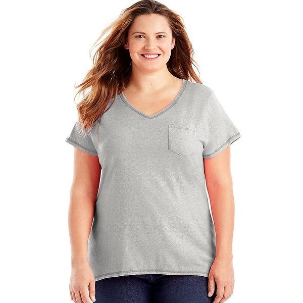 Just My Size X-Temp® Short-Sleeve V-Neck Women's Pocket Tee