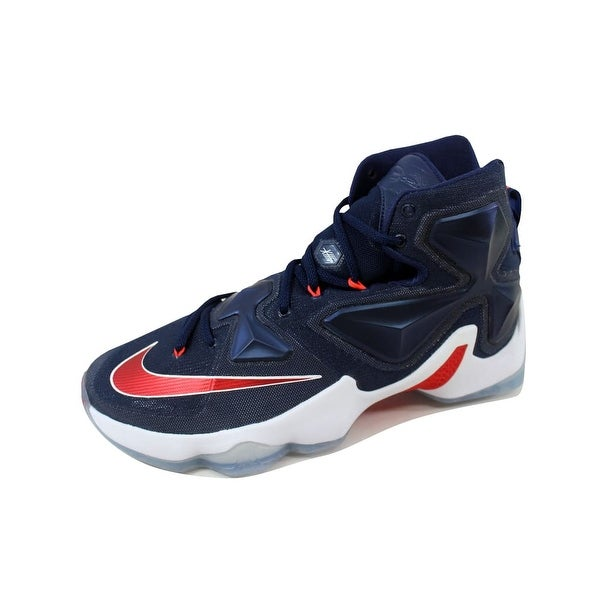 newest 0fe42 51181 Nike Men  x27 s Lebron XIII 13 Midnight Navy University Red-White