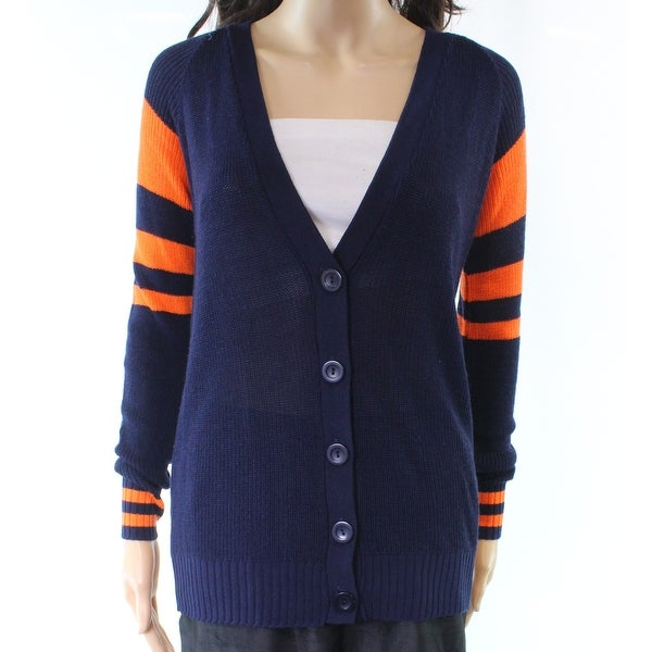 Shop Absolutely Blue Orange Women s Size XS Cardigan Striped Sweater - Free  Shipping On Orders Over  45 - Overstock - 21951511 27cdead97