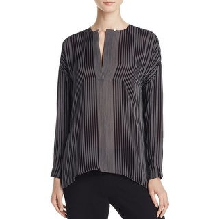 Vince Womens Blouse Silk Sheer