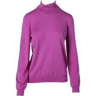 Lauren Ralph Lauren Womens Silk Long Sleeves Turtleneck Sweater