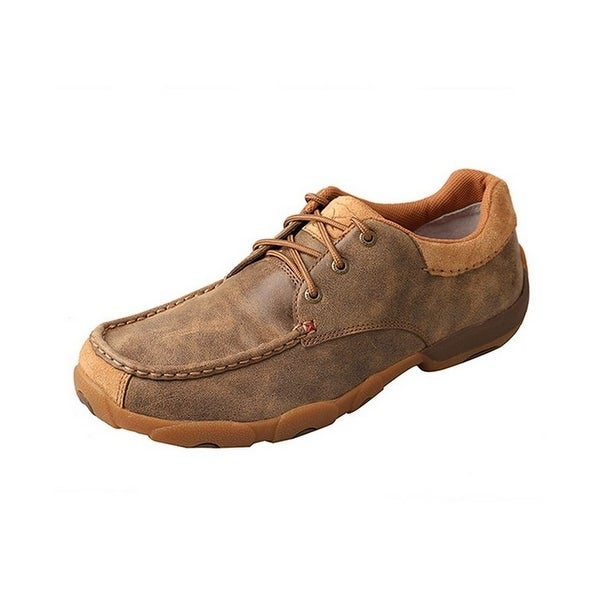 Twisted X Casual Shoes Mens Lace Up Driving Moc Bomber Brown