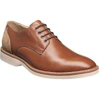 Florsheim Men's Union Plain Toe Oxford Cognac Full Grain Leather/Suede