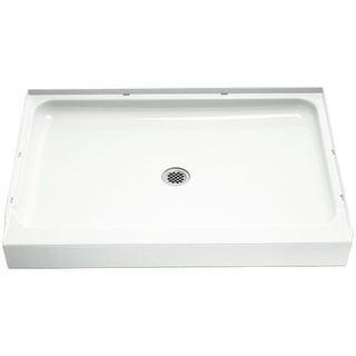 "Sterling 72121100 Ensemble 48"" x 34"" x 5-1/2"" Vikrell Shower Pan with Drain Center"