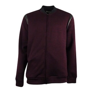 Kenneth Cole Reaction Men's Faux Leather Jacket (XXL, Plum Berry Heather) - plum berry heather - XxL