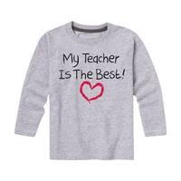 My Teacher Is The Best - Youth Long Sleeve Tee