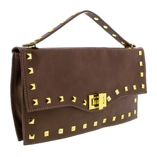 HS3651 TP CIARA Taupe Leather Clutch/Shoulder Bag