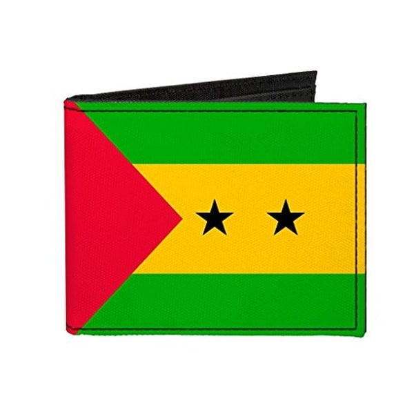 Buckle-Down Canvas Bi-fold Wallet - Sao Tome and Principe Flag Accessory