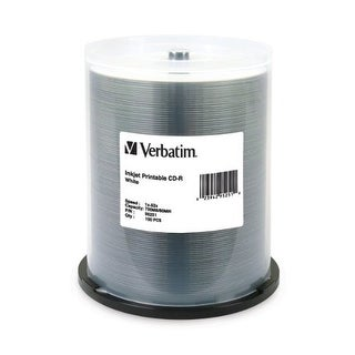 """Verbatim DM4838w Verbatim 700 MB 52x 80 Minute White Inkjet Printable Recordable Disc CD-R 100-Disc Spindle 95251"""