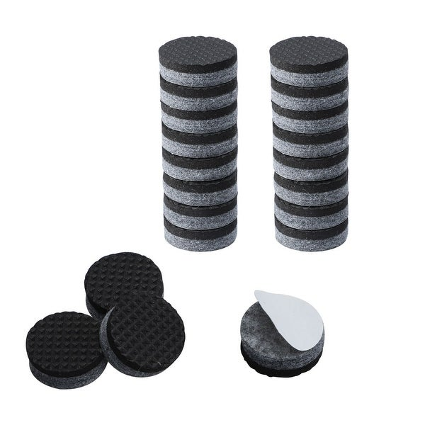 20pcs Furniture Felt Pads Round 3/4 Inch Furniture Grippers Self Stick Slip-resistant Pads for Cabinet Chair Leg Protector Grey