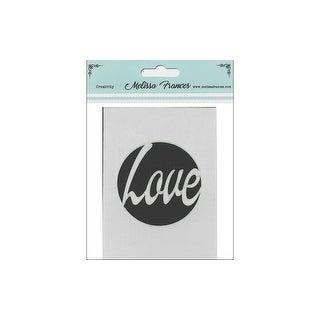 "Melissa Frances Stencil 3x4"" Love Circle"