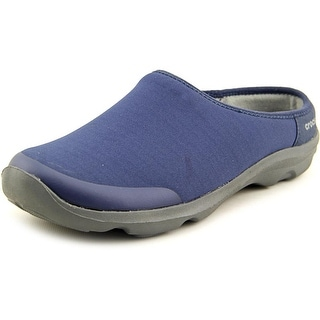 Crocs Duet Busy Day 2.0 Round Toe Canvas Mules