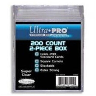 Ultra Pro 81149 2-Piece 200 Count Clear Card Storage Box