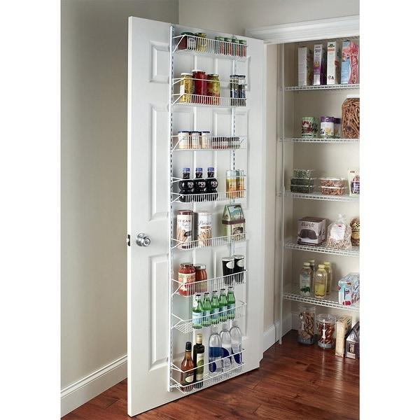 Shop 24 Inch Wide Adjustable Door Rack Pantry Organizer