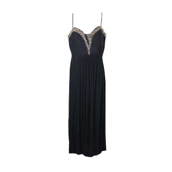 bbc7873e1ef Shop Betsy Adam Plus Size Black Embellished Sweetheart Gown 16W ...