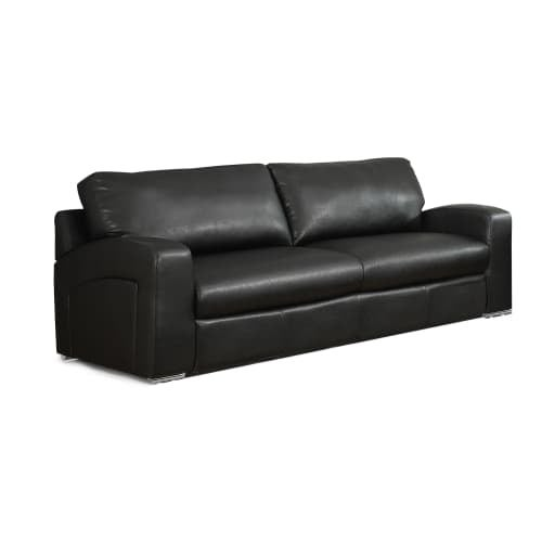 Monarch Specialties I 8503BK 86 Inch Long Bonded Leather Sofa   Free  Shipping Today   Overstock.com   25943656