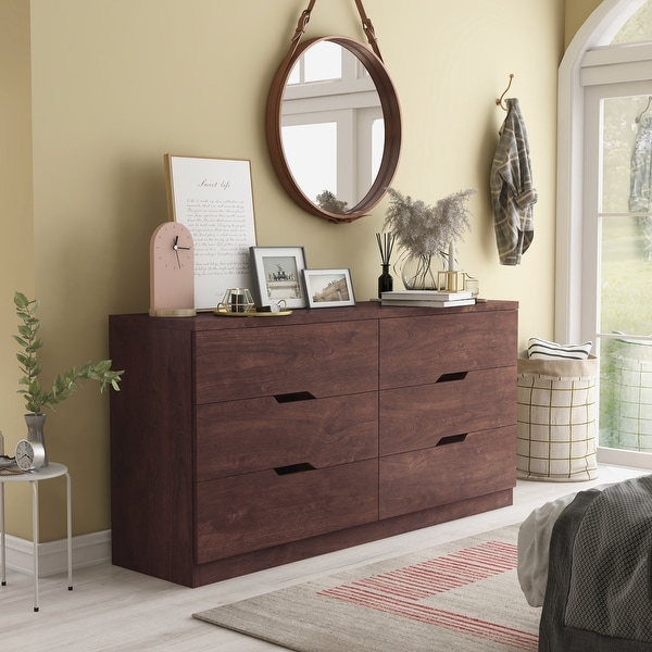 Furniture of America Marlone Contemporary 6-drawer Dresser. Opens flyout.