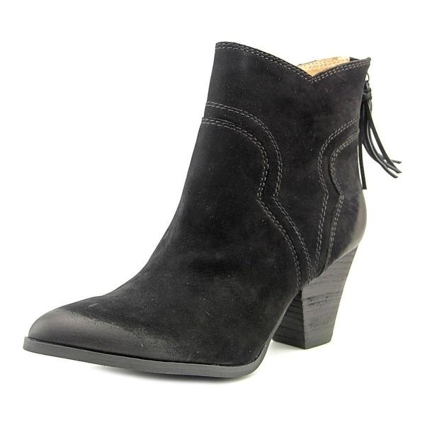 Splendid ASHER Women Pointed Toe Suede Black Western Boot