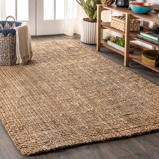 Link to Pata Hand Woven Chunky Jute Area Rug Similar Items in Farmhouse Rugs