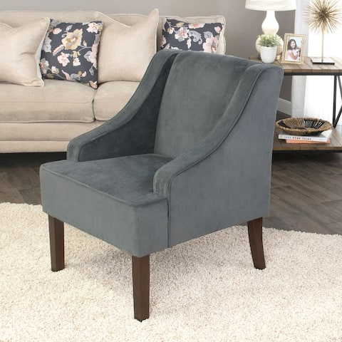 Porch & Den Lyric Velvet Arm Accent Chair