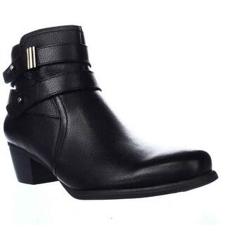 naturalizer Kepler Block Heel Ankle Boots, Black