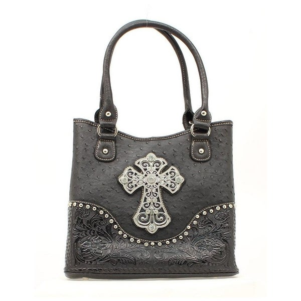 Blazin' Roxx Western Handbag Womens Shoulder Ostrich Cross N75266 - One size