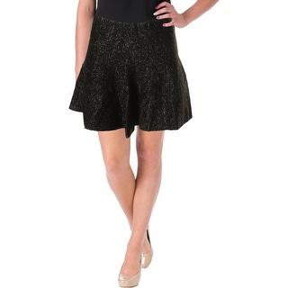 JOA Womens Flare Skirt Metallic Mini