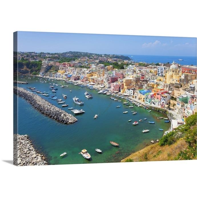 Marina Corricella Procida Island Bay Of Naples Campania Italy Canvas Wall Art Overstock 21007668