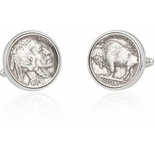 Buffalo Nickel Coin Coin Collector Cufflinks