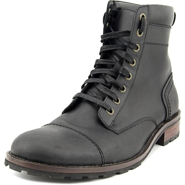 84bb06c9eb8 Shop Wolverine Reese Men Cap Toe Leather Black Boot - Free Shipping ...