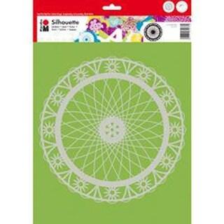 "Wheel Of Flower - Marabu Silhouette Stencils 11.75""X11.75"""