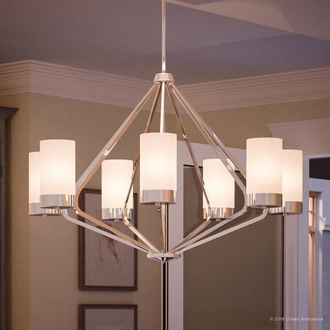 Luxury Contemporary Chandelier 22 875 H X 32 625 W With Mid Century Modern Style Polished Chrome Finish By Urban Ambiance