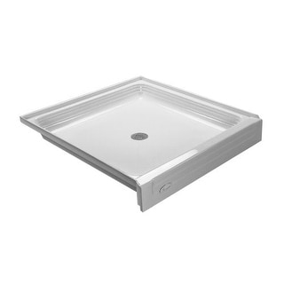 "Proflo PFSB3434 Single Curb Rectangular Shower Pan (34"" X 34"") - For Alcove Installation"