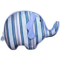 Dena Indigo Elephant Shaped Decorative Pillow, Blue-White - Blue