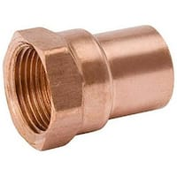 Mueller Industries W 61246 .75 in. Copper Female Pipe Thread Adapter